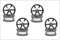 Wheel6-Spoke/24mm/Chrome Plated/8Pcs