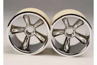 TRX Pro-Star chrome wheels (2) (front) (for 2.2'' tires)