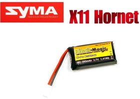 Аккумулятор для SYMA X11 Black Magic LiPo 3,7В(1S) 380mAh 30C Soft Case Molex plug (for Syma X11) - BM-F35-0381WLK