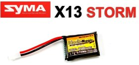Аккумулятор для SYMA X13 Black Magic LiPo 3,7В(1S) 200mAh 20C Soft Case Molex plug (for Syma X13) - BM-F20-0201WLK
