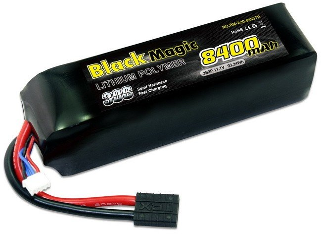 Аккумулятор Black Magic LiPo 11.1V 3S 30C 8400 mAh - BM-A30-8403TR