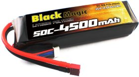 Аккумулятор Black Magic LiPo 14,8V(4S) 4500mAh 50C Deans plug - BM-F50-4504D