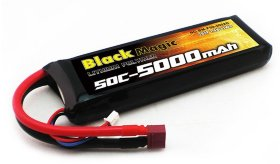 Аккумулятор Black Magic LiPo 7,4V(2S) 5000mAh 50C Deans plug - BM-F50-5002D