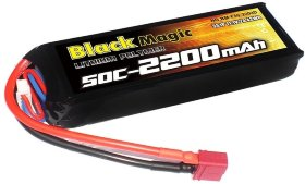 Аккумулятор Black Magic 11.1V 3S 25C 2200 mAh - BM-F25-2203D