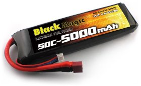 Аккумулятор Black Magic LiPo 11,1V(3S) 5000mAh 50C Deans plug - BM-F50-5003D