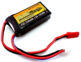 Аккумулятор Black Magic LiPo 7.4V 2S 25C 250 mAh - BM-F25-0252BEC
