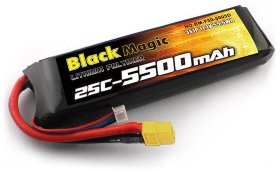 Аккумулятор Black Magic LiPo 11,1V(3S) 5500mAh 25C Deans plug - BM-F25-5503XT