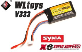 Аккумулятор Black Magic LiPo 850mAh 25C Soft Case JST-BEC plug (for WLToys V262, V333, V333C, Syma X6)