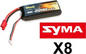 Аккумулятор Black Magic Li-Po 7,4V(2S) 2200mAh 30C Tubes Plug 3.5 mm - BM-F30-2202