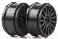 Wheel (15-Spoke/Black/2pcs/DRX)