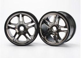 Диск колеса Wheels, SS (split spoke) 3.8'' (black chrome) (2) (use with 17mm splined wheel hubs & - TRA5172A