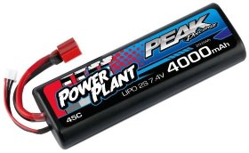 Аккумулятор Peak Racing Power Plant Lipo 4000 7.4 V 45C (Black case, Deans Plug) 12AWG - PEK00544