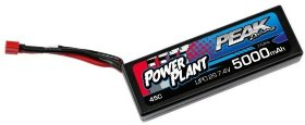 Аккумулятор Peak Racing Power Plant Lipo 5000 7.4 V 45C (Black case, Deans Plug) 12AWG - PEK00545