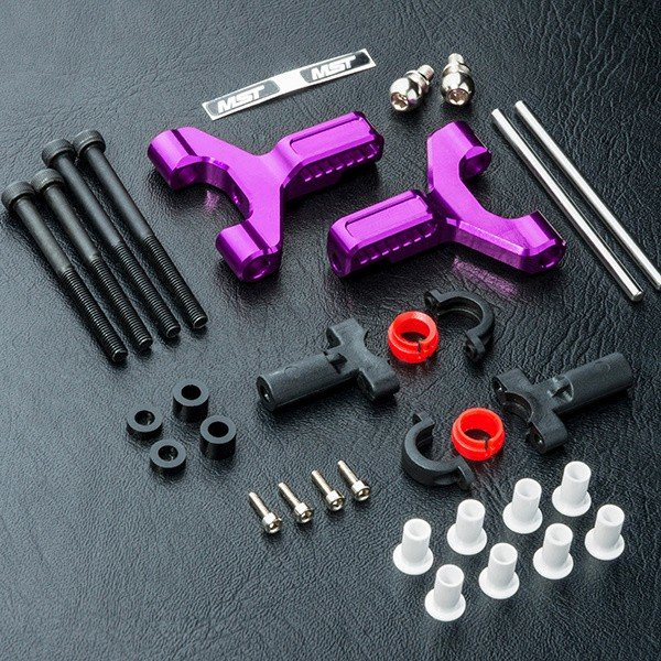 Alum. front lower arm set (purple) - MST-820117P