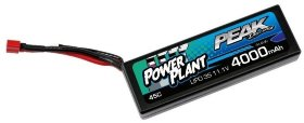 Аккумулятор Peak Racing Power Plant Lipo 4000 11.1V 45C (Black case, Deans Plug) 12AWG - PEK00552