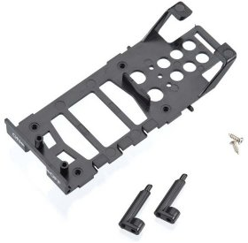Main frame, battery holder (1)| canopy mounting posts (2)| screws (2)